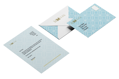 Branded stationary, envelopes, letterheads